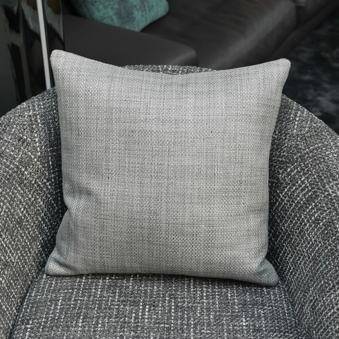Ex-Display: 18'' x 18'' Square Cushion. Giorgio Turtle Dove Fabric