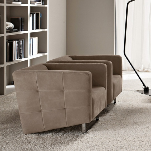 Madison Modern Leather Armchair
