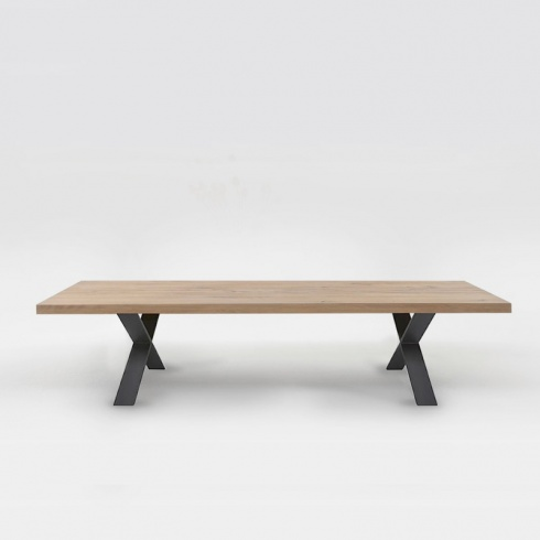 Pixel Coffee Table, Solid Oak & Metal