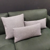 Clearance: Loop Silver Grey Fabric Cushions (Set of 3)