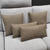 Clearance: Loop Taupe Fabric Cushions (Set of 4)