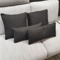 Clearance: Charcoal Grey Fabric Cushions (Set of 4)