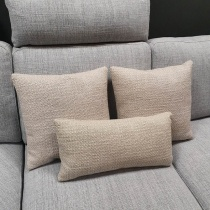 Clearance: Loop Cream Fabric Cushions (Set of 3)
