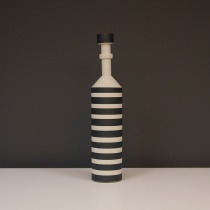 Black and White Striped Ceramic Object, H34cm