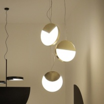 Ex-Display: Luna Pendant Ceiling Lights in Brushed Brass