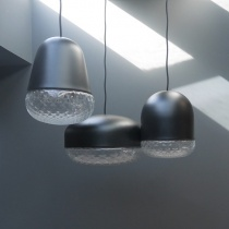 Ex-Display: Glassworks Trio Ceiling Lights in Matt Black
