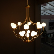 Ex-Display: Polka Satin Gold Grand Chandelier