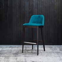 Ex-Display: X4 Form Barstools, Kingfisher Teal Velvet (4 Barstools Available)