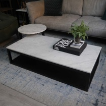Ex-Display: Verona Set of 2 Coffee Tables - Carrara White Marble