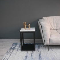 Ex-Display: Square Verona Side Table - Carrara White Marble
