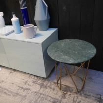 Ex-Display: Fern Round Marble Coffee Table - Verde Guatemala