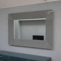 Ex-Display: Burano Glass Mirror In Clay