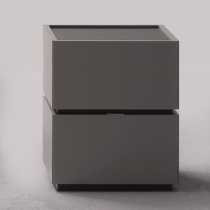 Como 2 Drawer Bedside Table. H54cm.