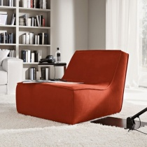 Happy Modern Armchair, Fabric or Leather